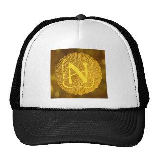 monogram - medallion mesh hat