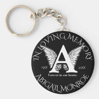 Monogram | Memorial Basic Round Button Key Ring