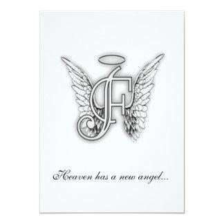 Monogram Memorial Tribute Letter F Custom Announcement