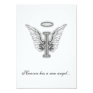 Monogram Memorial Tribute Letter I Cards