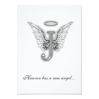 Monogram Memorial Tribute Letter J Personalized Invitation