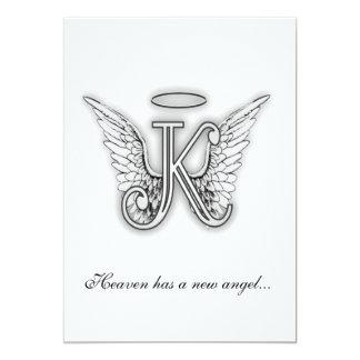 Monogram Memorial Tribute Letter K Custom Invites