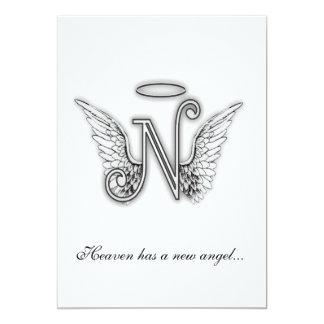 Monogram Memorial Tribute Letter N Personalized Invite