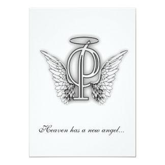 Monogram Memorial Tribute Letter P Announcement