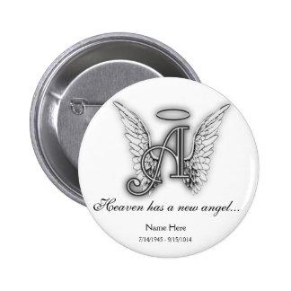 Monogram Memorial Tribute Ornament A 6 Cm Round Badge