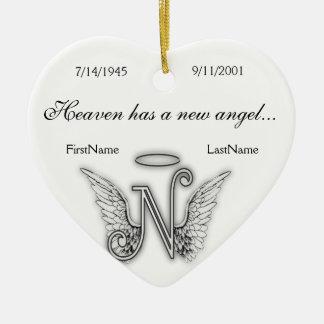Monogram Memorial Tribute Ornament N