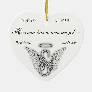 Monogram Memorial Tribute Ornament S