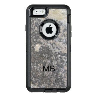 Monogram Men's Stone Look OtterBox Defender iPhone Case
