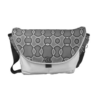 Monogram Messenger Bags With African Designs
