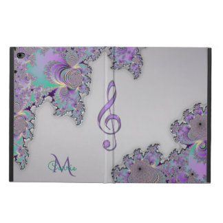 Monogram Metallic Fractal Music Clef iPad Air Case
