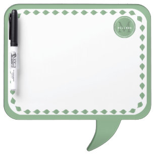 Monogram - Mint Green Design Dry Erase Board