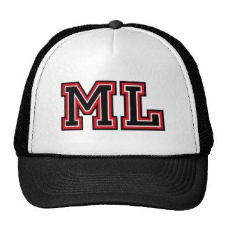 Monogram 'ML' Mesh Hats