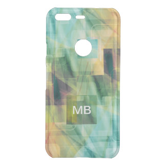 Monogram Modern Abstract Design Uncommon Google Pixel Case
