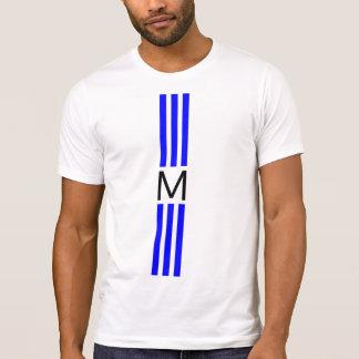Monogram Modern Blue Stripes T-Shirt