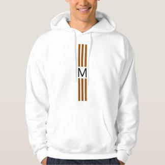 Monogram Modern Brown Stripes Hoodie