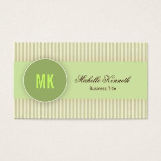 Monogram Modern Business Card Design