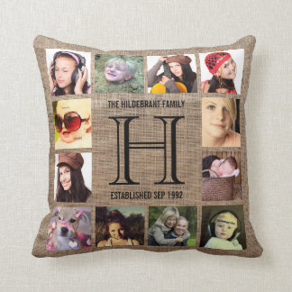 Monogram Modern Family 12 Instagram Photos Cushion