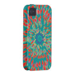Monogram Modern Flower Teal iPhone Case Vibe iPhone 4 Covers