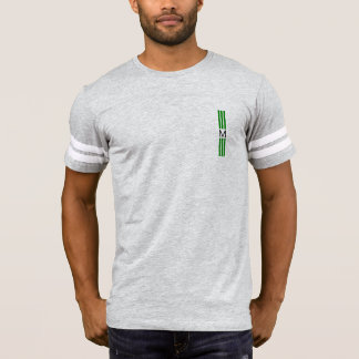 Monogram Modern Green Stripes T-Shirt