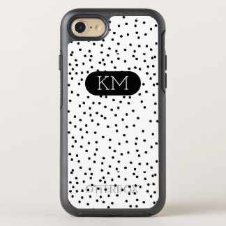 Monogram Modern Polka Dot OtterBox Symmetry iPhone 8/7 Case
