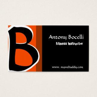 Monogram Modern Professional Bold Trendy Striking Business Card