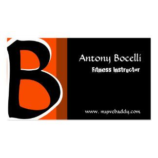 Monogram Modern Professional Bold Trendy Striking Pack Of Standard Business Cards