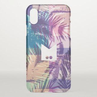 Monogram. Modern Tropical Palm Geometric Pattern iPhone X Case
