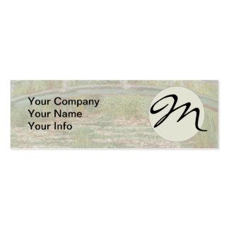 Monogram Monet Bridge Vintage Impressionist Art Pack Of Skinny Business Cards