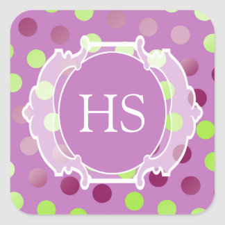 Monogram Moroccan art deco Square Sticker