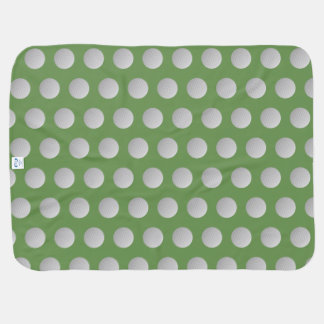 Monogram Moss Green Golf Ball Baby Blanket