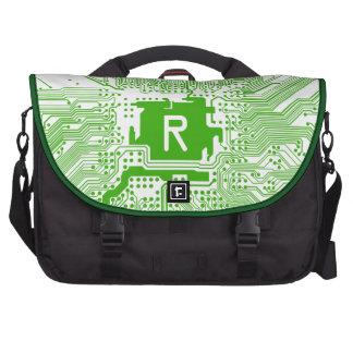 monogram motherboard computer circuit - green laptop computer bag