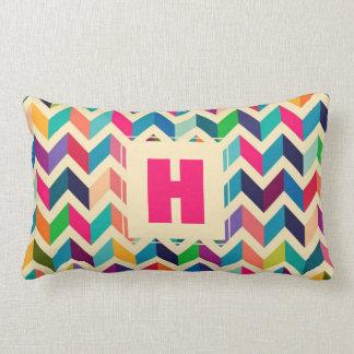 Monogram Multi-colour Chevron | Throw Cushion