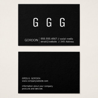 Monogram / Multiples (Black) Business Card