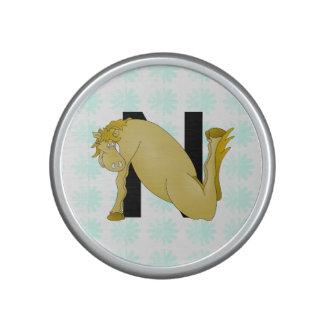 Monogram N Cartoon Pony Personalised Bluetooth Speaker