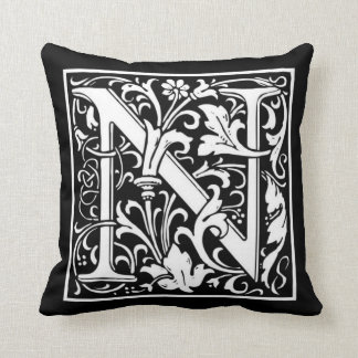 Monogram N Pillow