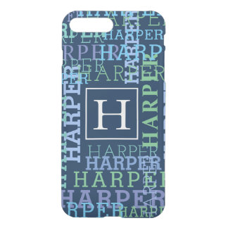 Monogram Name Cloud Dark Navy Color iPhone 8 Plus/7 Plus Case
