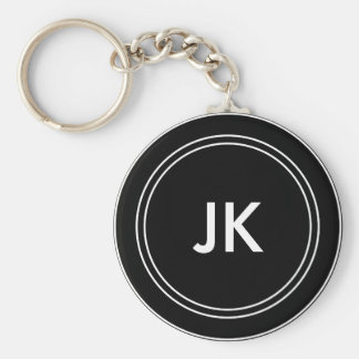 Monogram Name Initials Key Ring