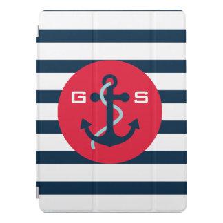 Monogram. Nautical. Anchor. iPad Pro Cover