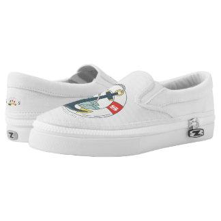Monogram. Nautical Anchor Tattoo. Slip On Shoes