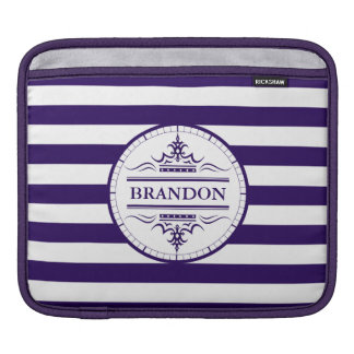 Monogram Nautical Elegant Navy Blue iPad pad iPad Sleeve