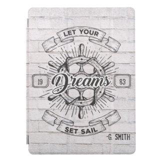 Monogram. Nautical. Life Quote. iPad Pro Cover