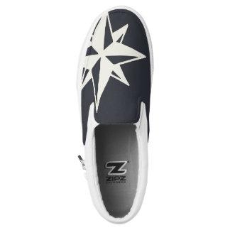 Monogram. Nautical. Star. Slip On Shoes
