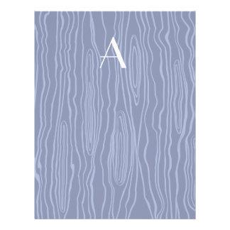 Monogram navy blue faux bois full color flyer