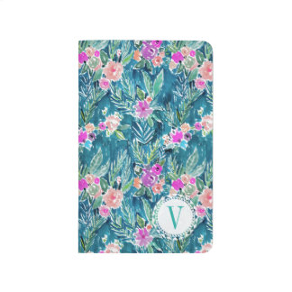 Monogram NAVY TROPICAL PARADISE Hawaiian Hibiscus Journals