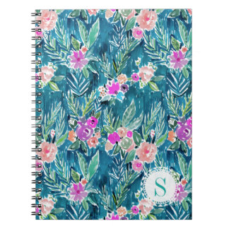Monogram NAVY TROPICAL PARADISE Hawaiian Hibiscus Notebooks