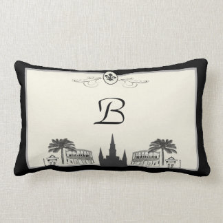 Monogram New Orleans Scene Lumbar Cushion