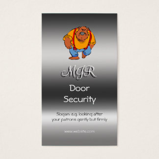Monogram, Nightclub Door Security, metallic-effect Business Card