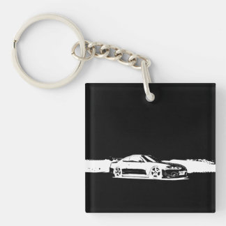 Monogram Nissan Silvia Double-Sided Square Acrylic Key Ring
