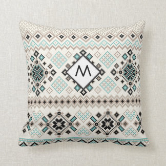 Monogram Nordic Cross Stitch Pattern Cushion