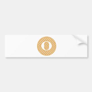 Monogram O Bumper Sticker